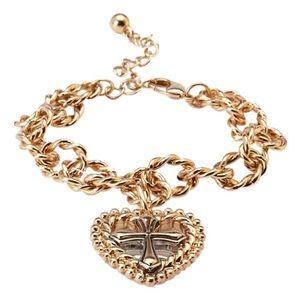 Forever 21 Braided Heart Bracelet